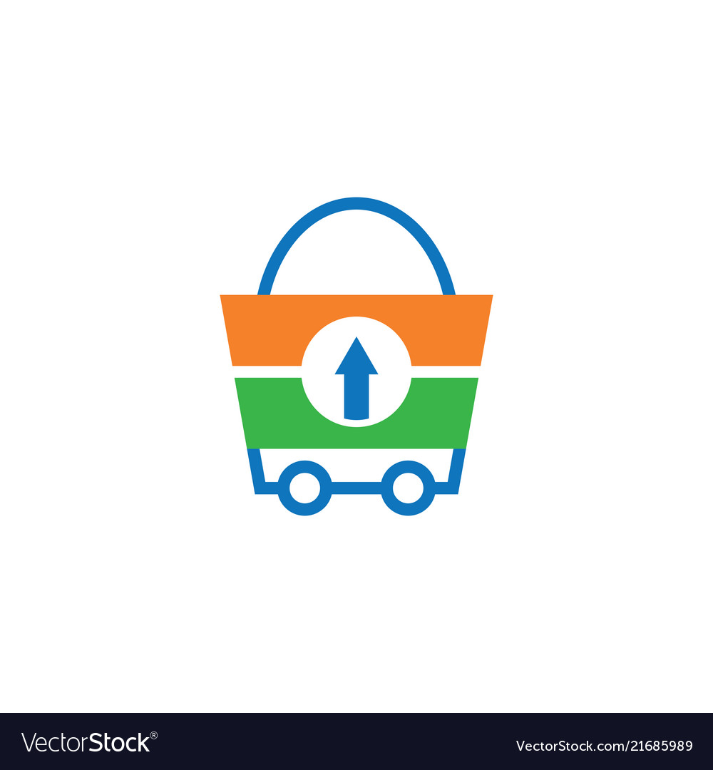 Shopping bag trolley logo