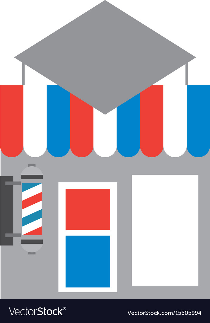 Barbershop building front icon