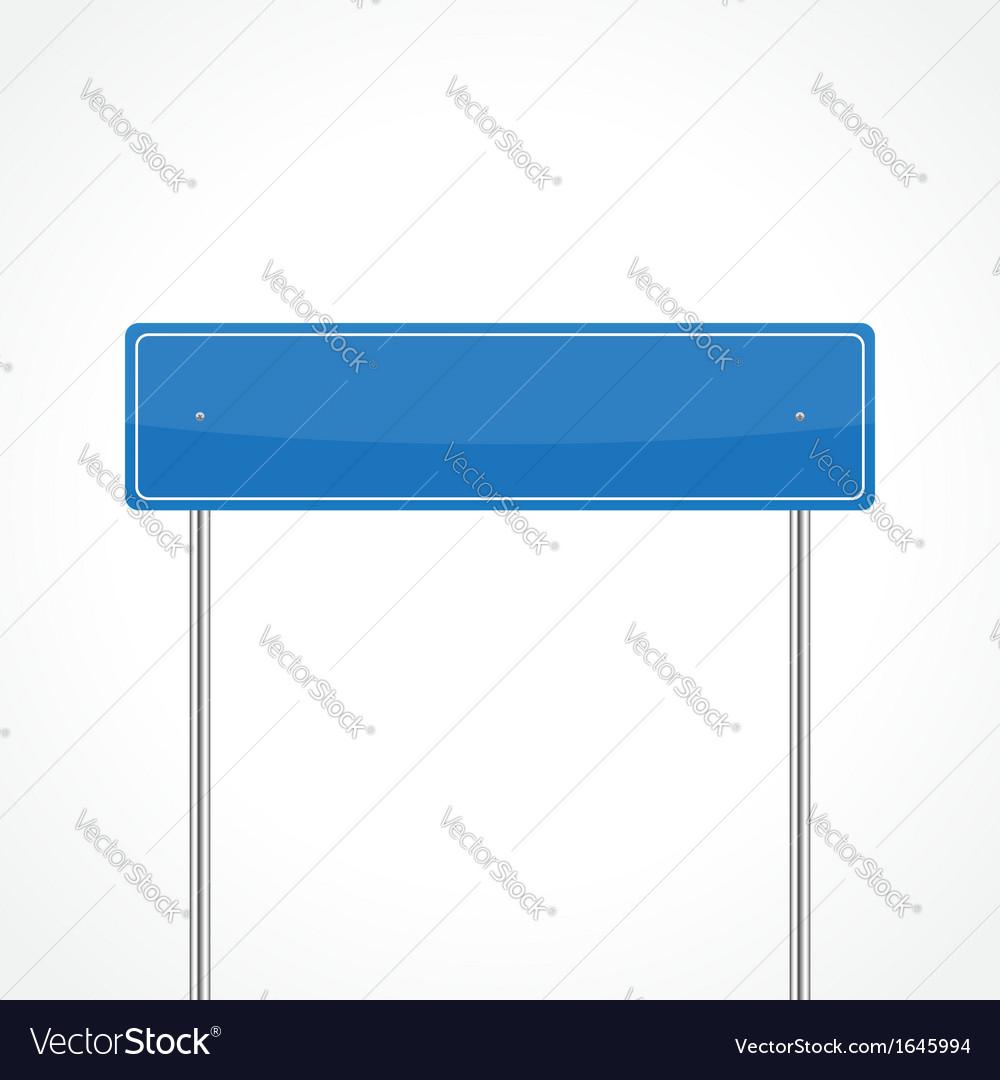 Blue traffic sign