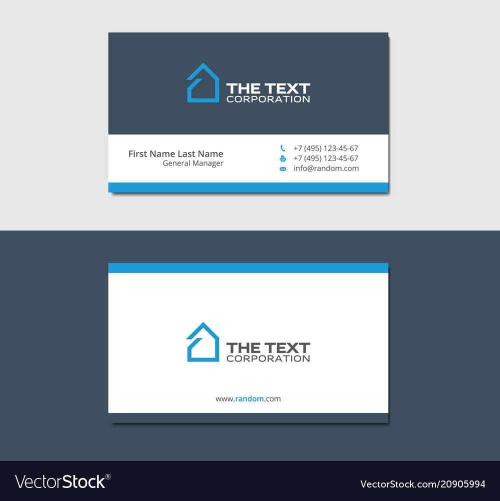 Business Cards Template Commercial Real Estate Vector Image
