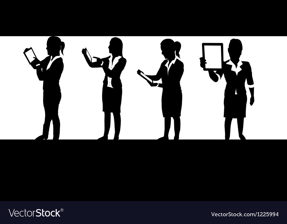 Business people tablets1 vector image
