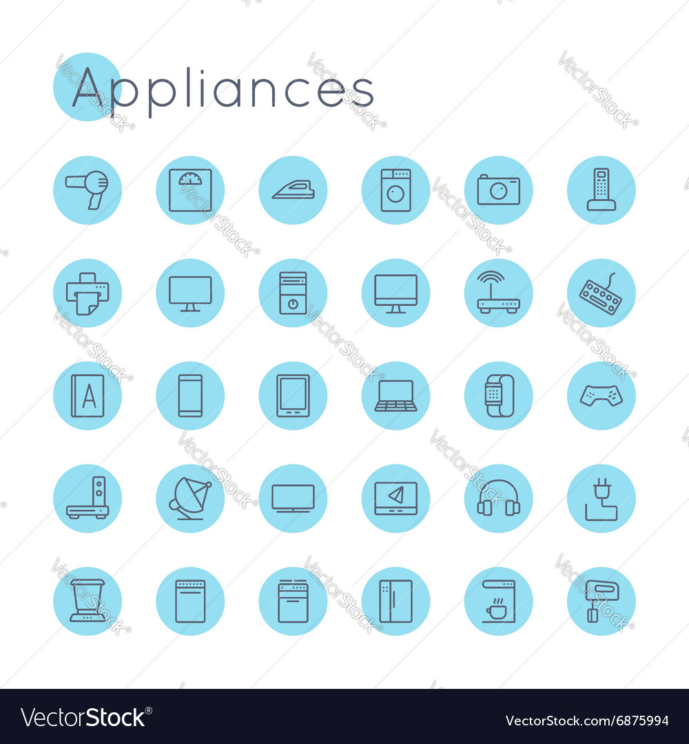 Round Appliances Icons