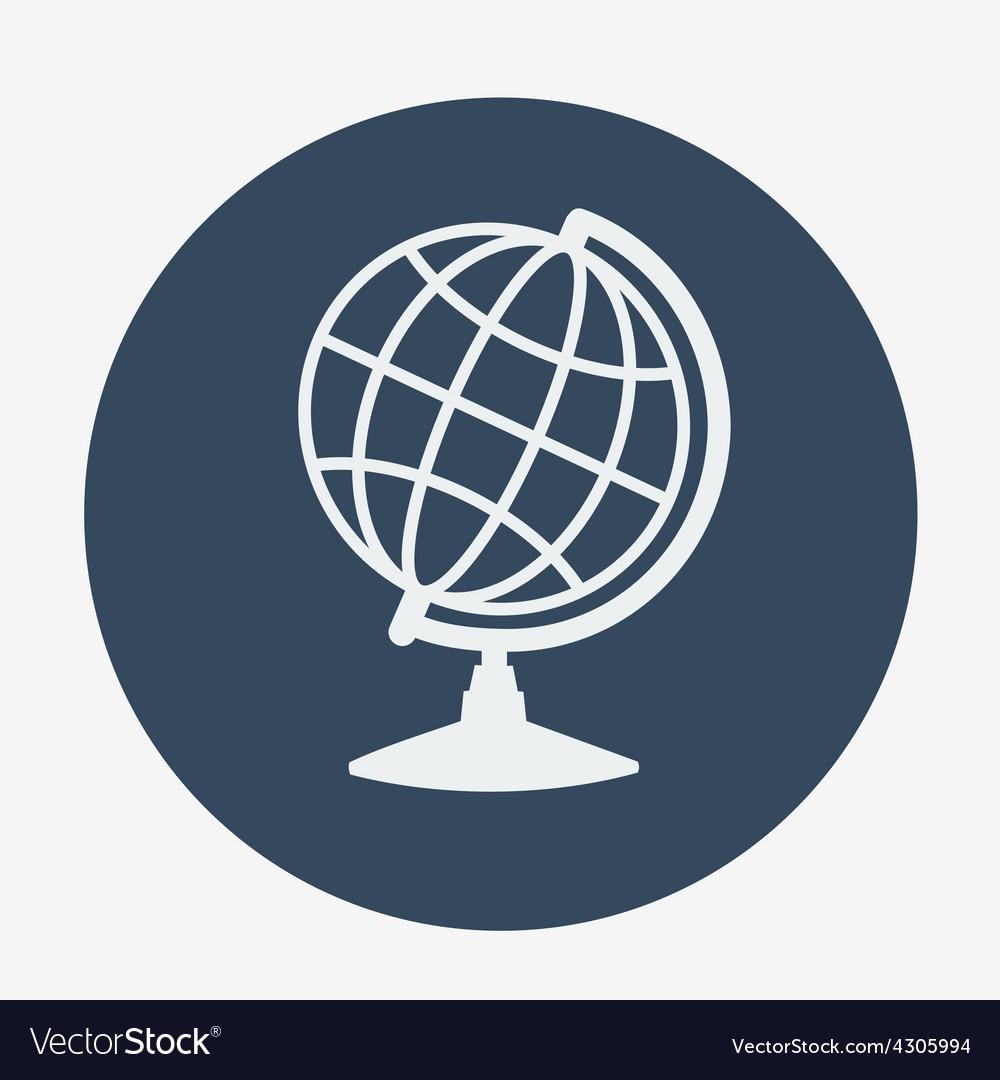 Single globe icon vector image
