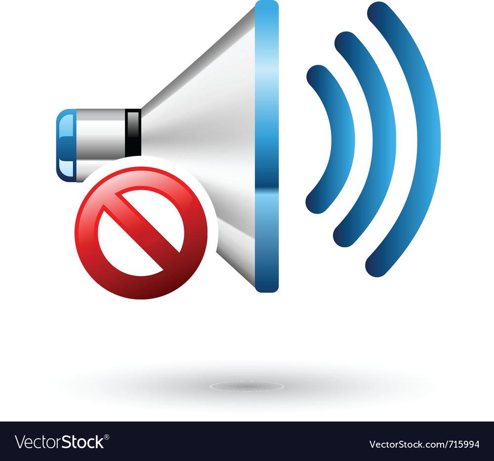 Speaker off vector image