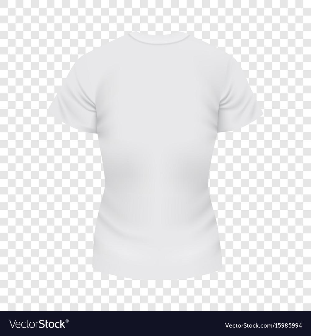 White female tshirt mockup realistic style
