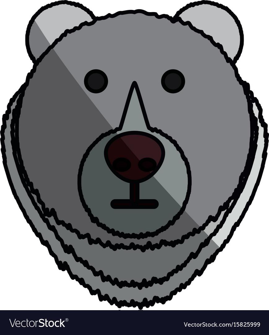 bear cartoon face royalty free vector image vectorstock rh vectorstock com cartoon teddy bear face cartoon bear face images