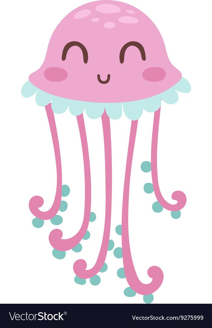Jellyfish medusa vector image