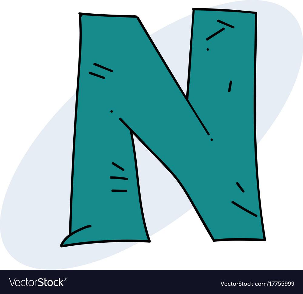 Letter n cartoon