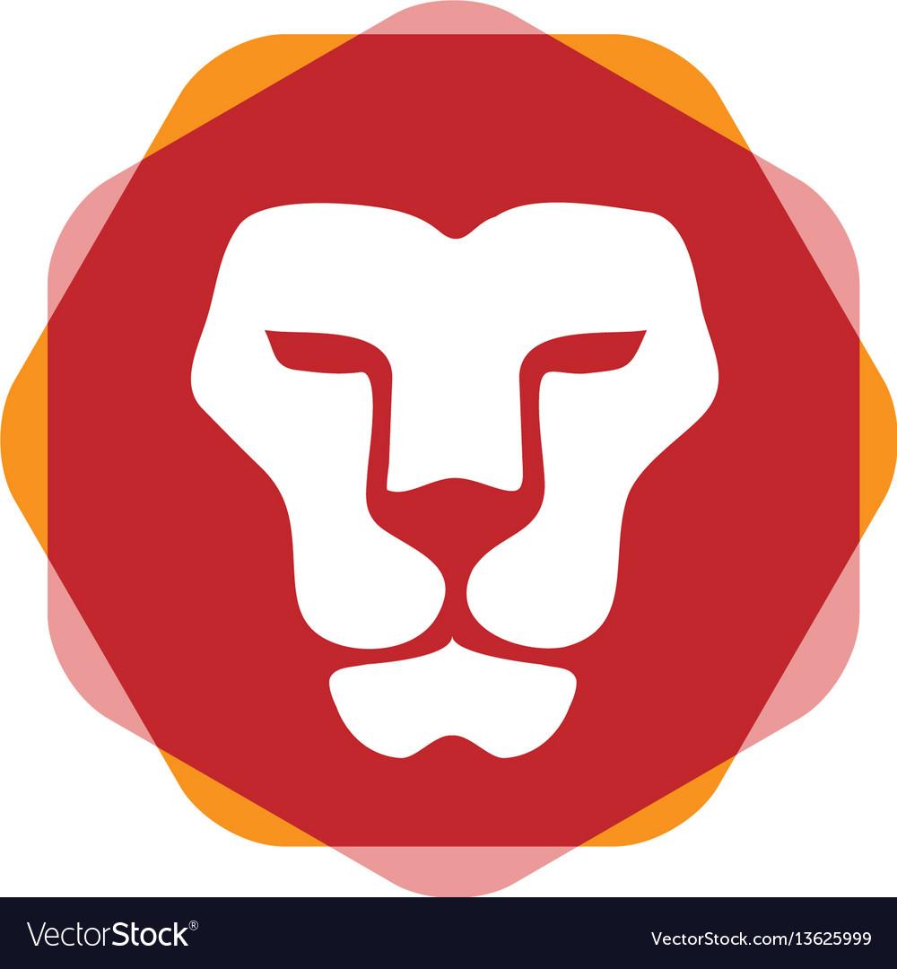 Lion head hexagon color