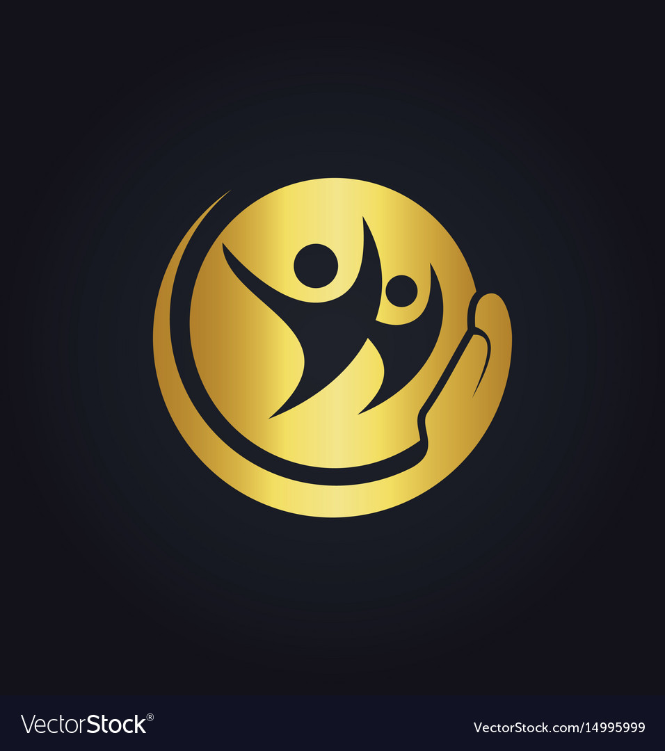 People care happy gold logo