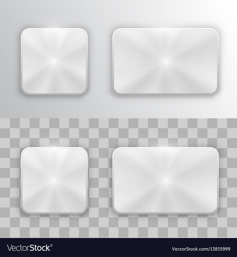 Set of metal buttons