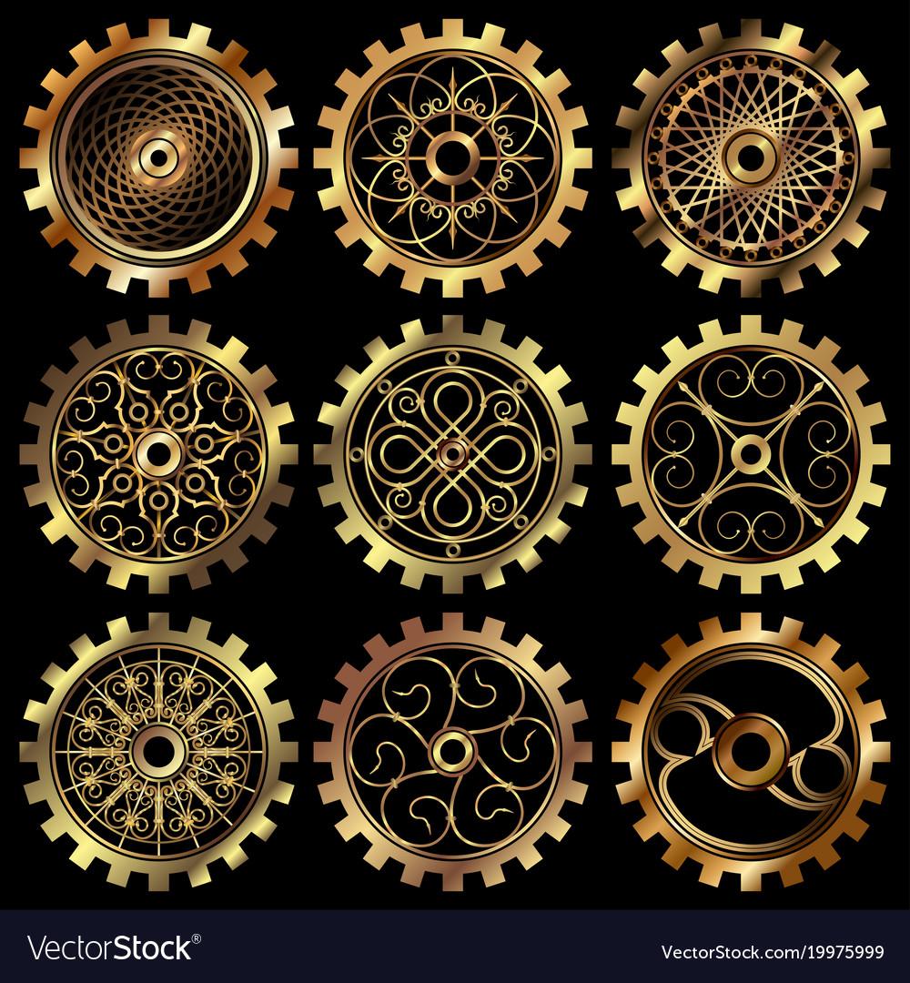 the steampunk gears royalty free vector image vectorstock