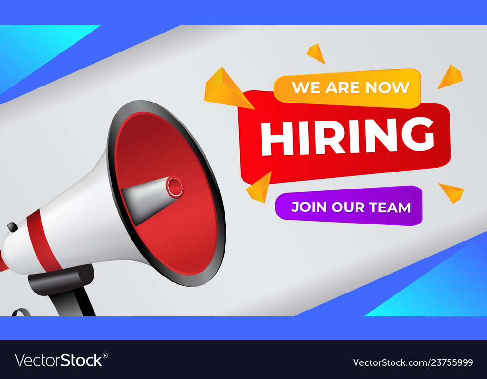 We Are Hiring Banner With Megaphone Join Our Team