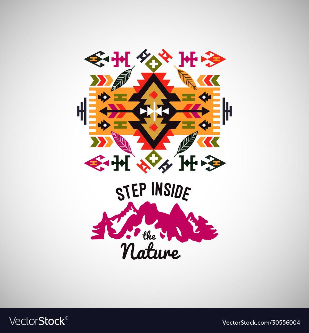 Colorful decorative element on native