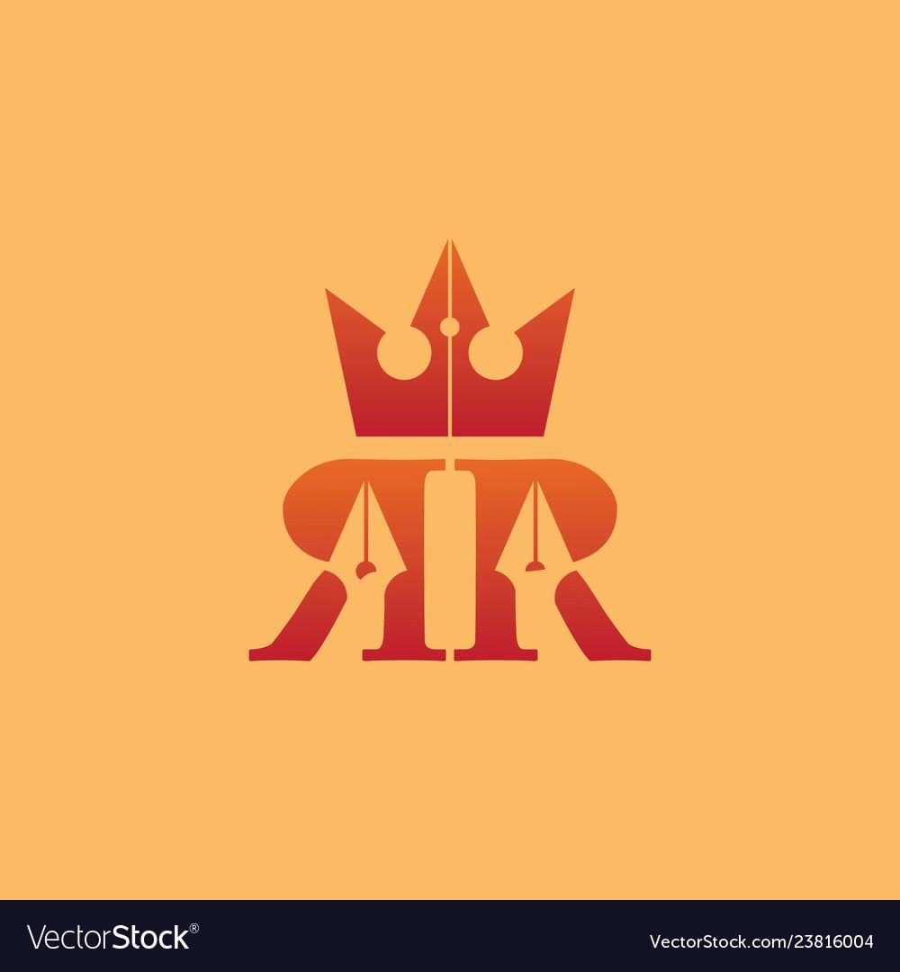 Company logo design double letter r
