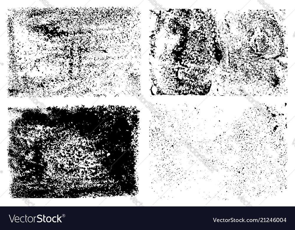 Ink splatter grunge distressed textures set