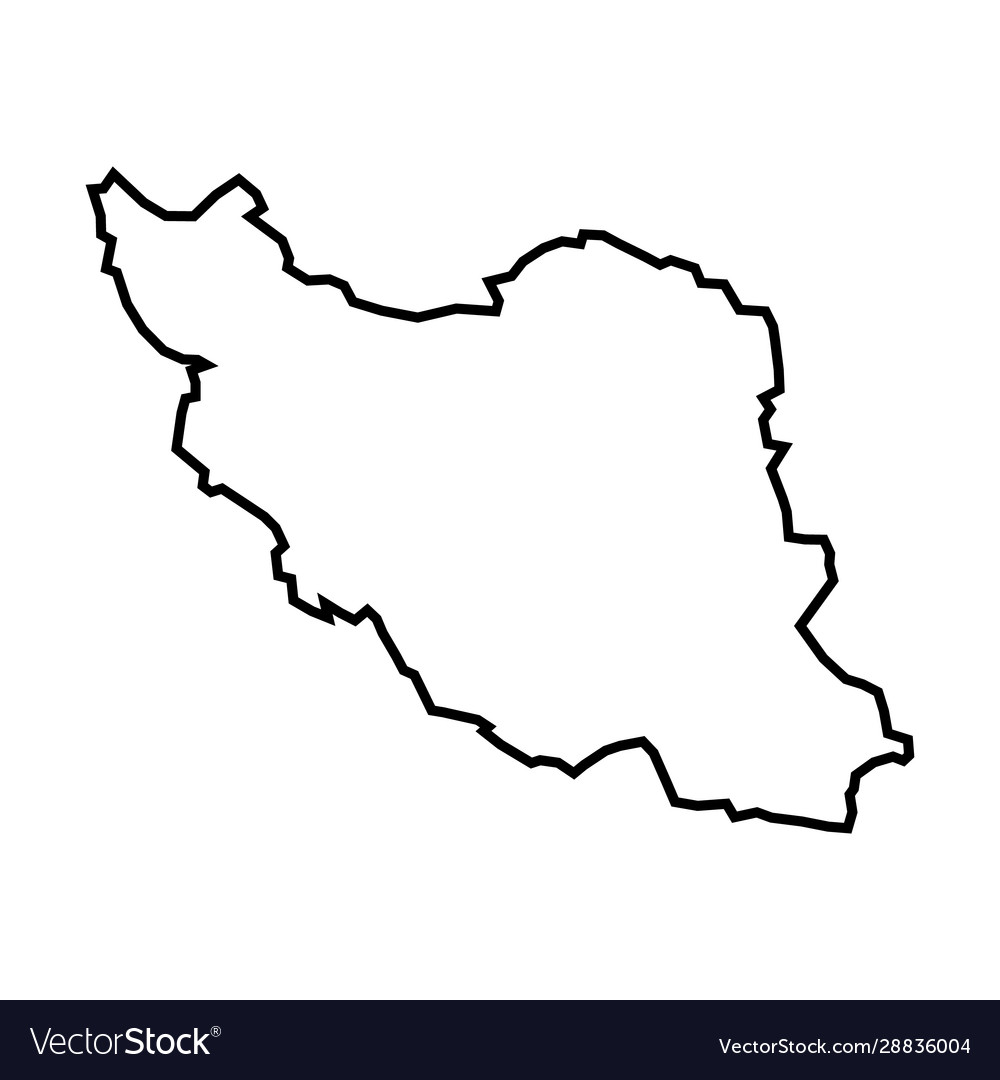 Iran - solid black outline border map country