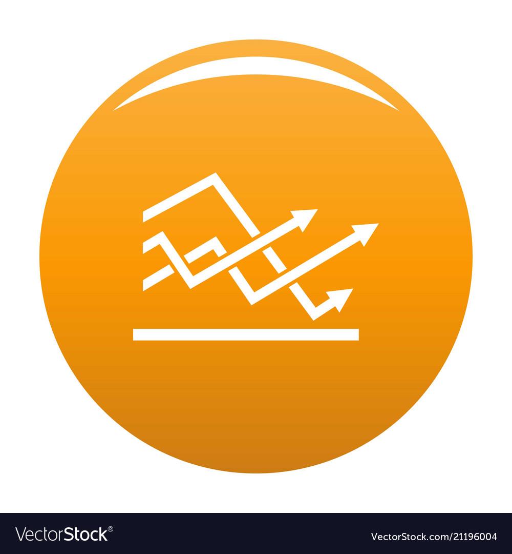 Line chart icon orange