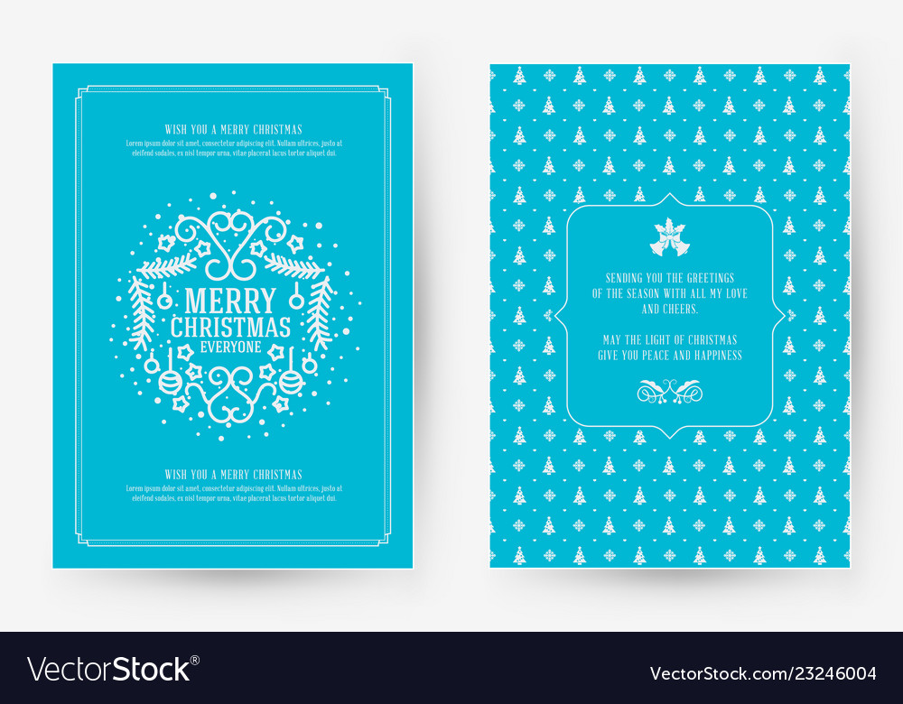 Merry christmas greeting card template