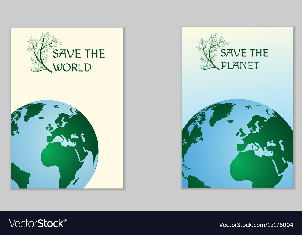 Save the world ecological poster