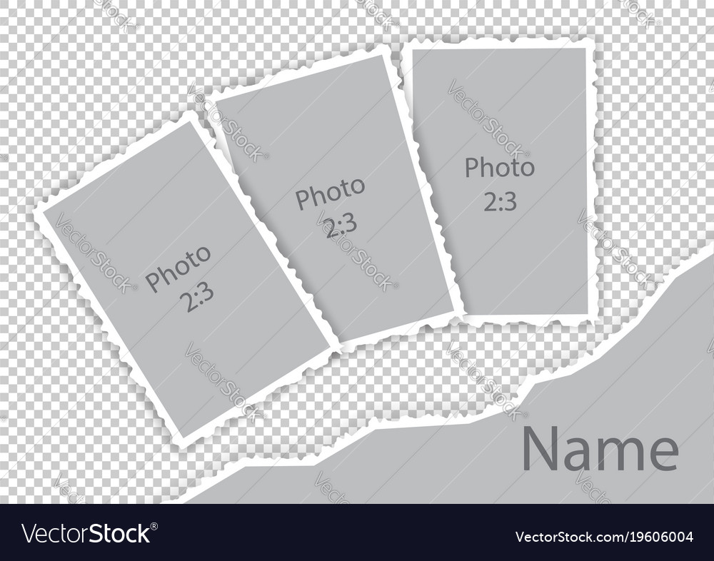 Torn edges borders paper style photo frames Vector Image