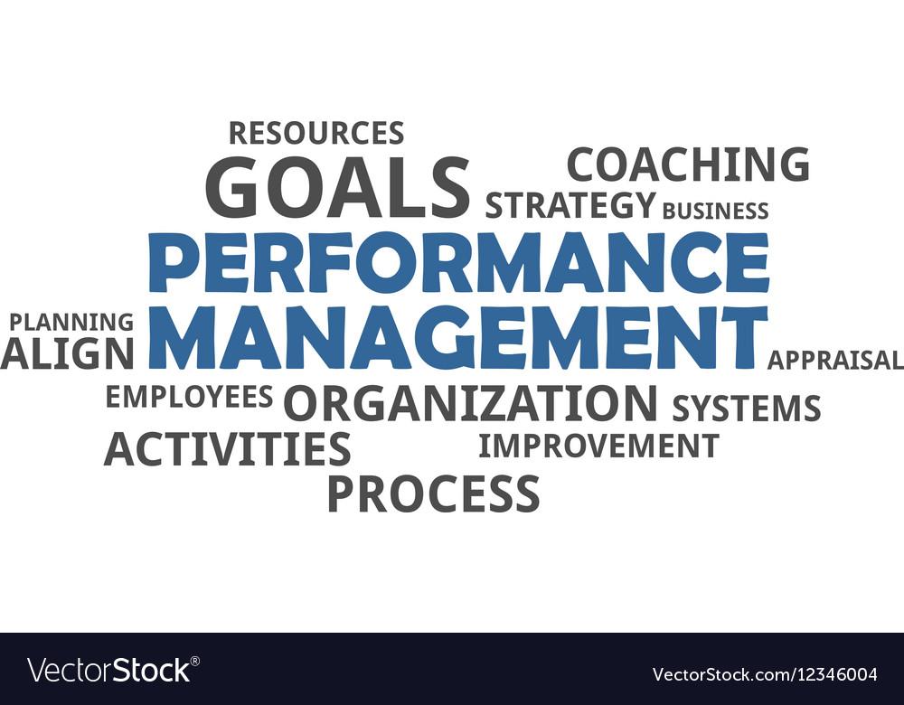 Word cloud performance management