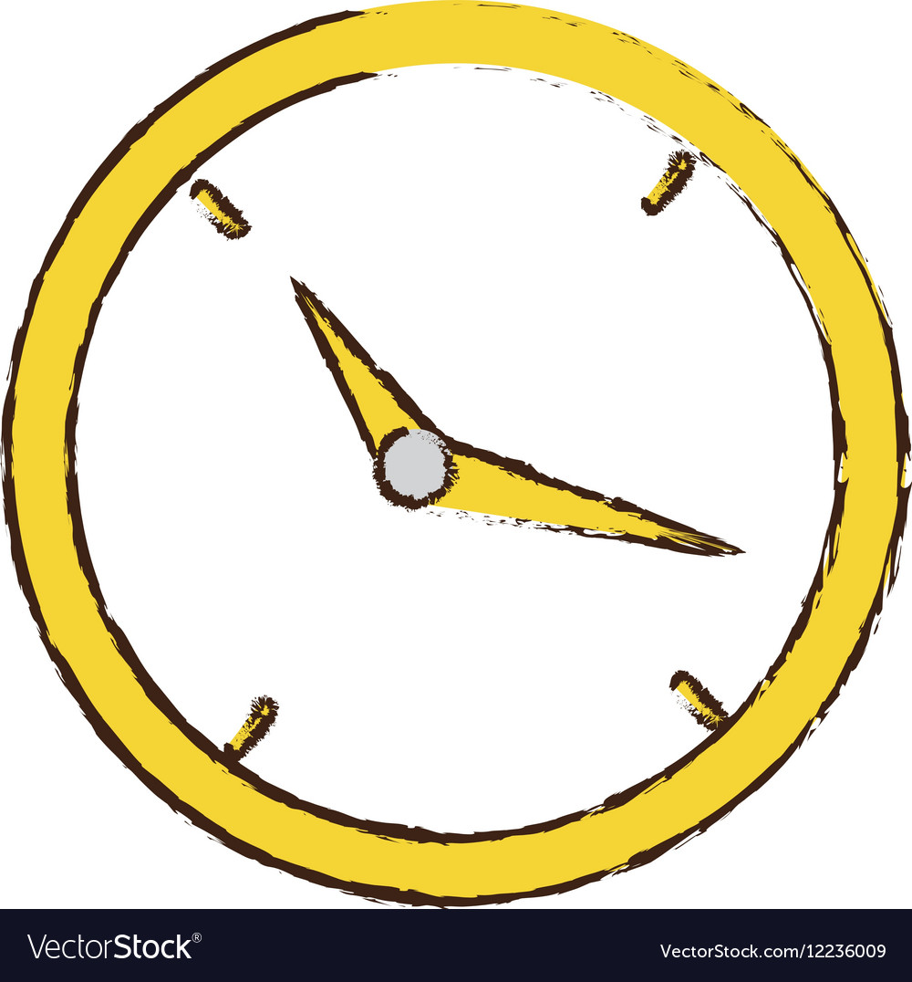 Drawing clock time business money design