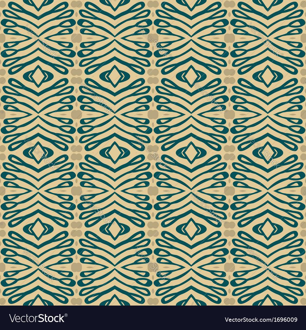 Flourish ethnic pattern in organic colors vector image