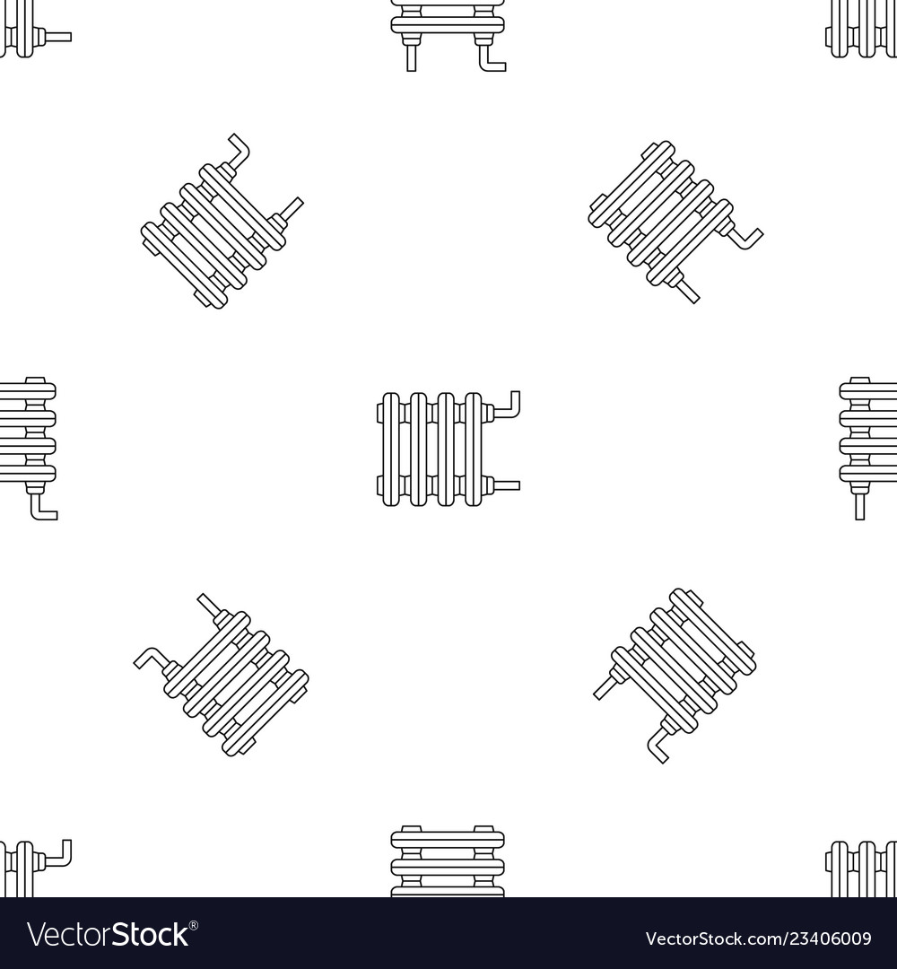 Old home radiator icon outline style