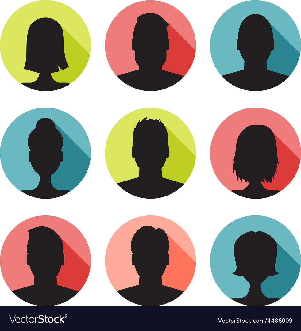 Set of colorful user profile