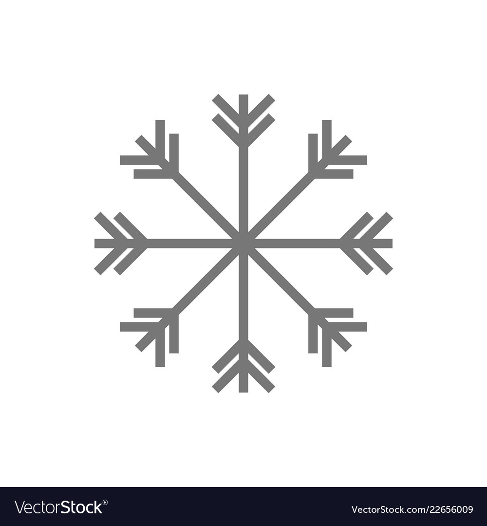 Snowflake icon sign