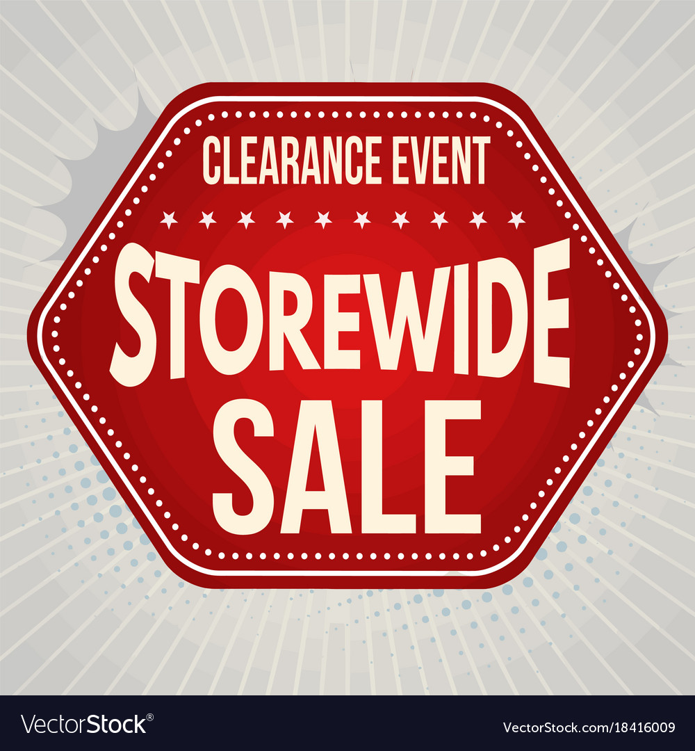 storewide sale typographic design template vector image