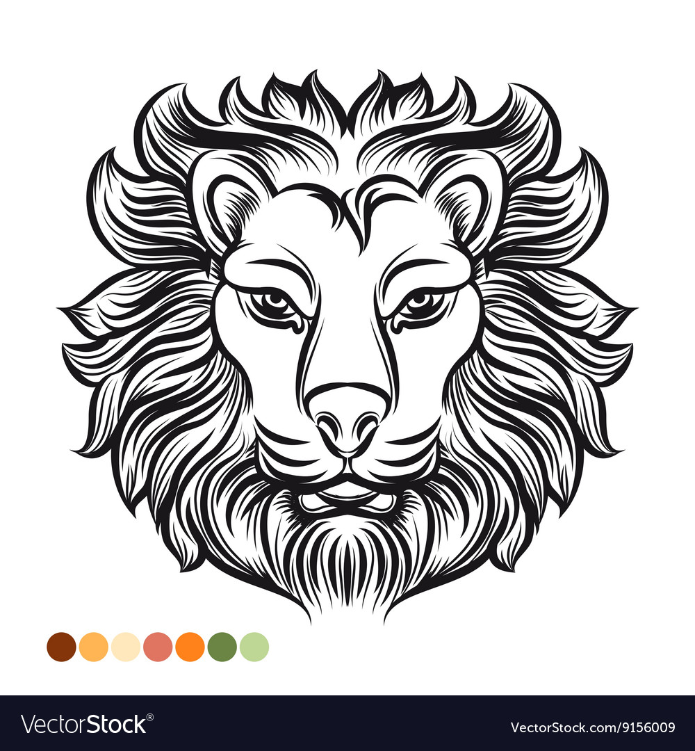 Wild lion coloring page