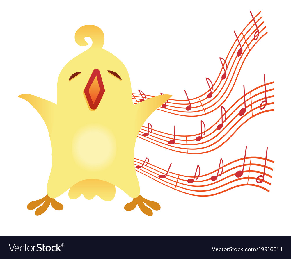 A little birdie sings for vocal vector image