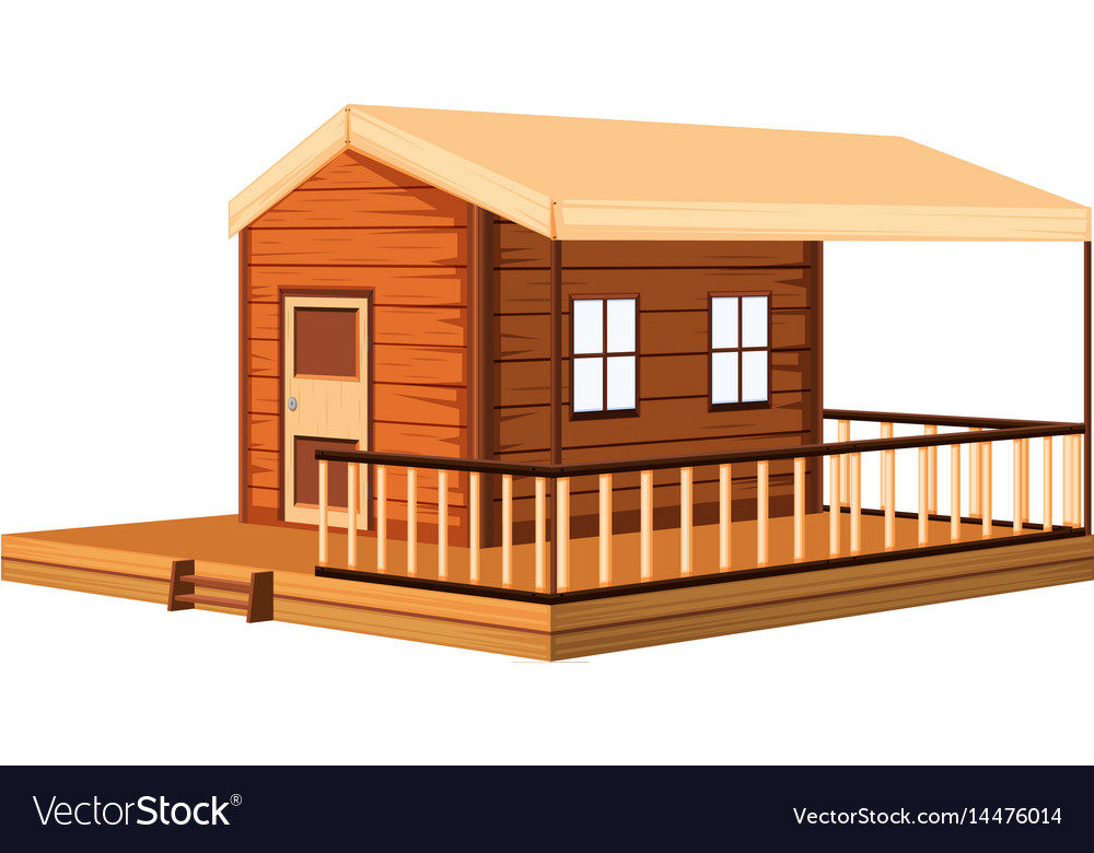 Architecture design for wooden cottage vector image