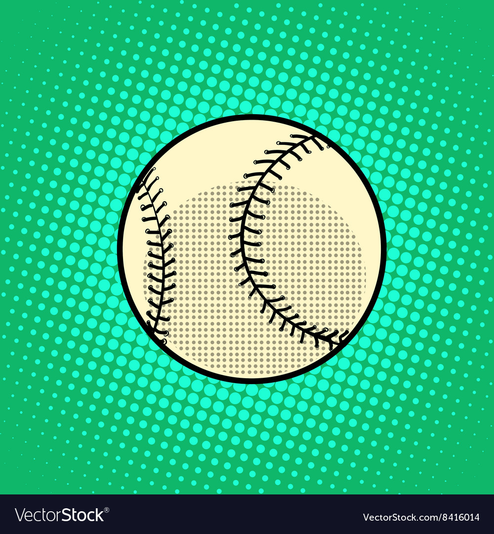 Baseball Ball pop art retro style vector image