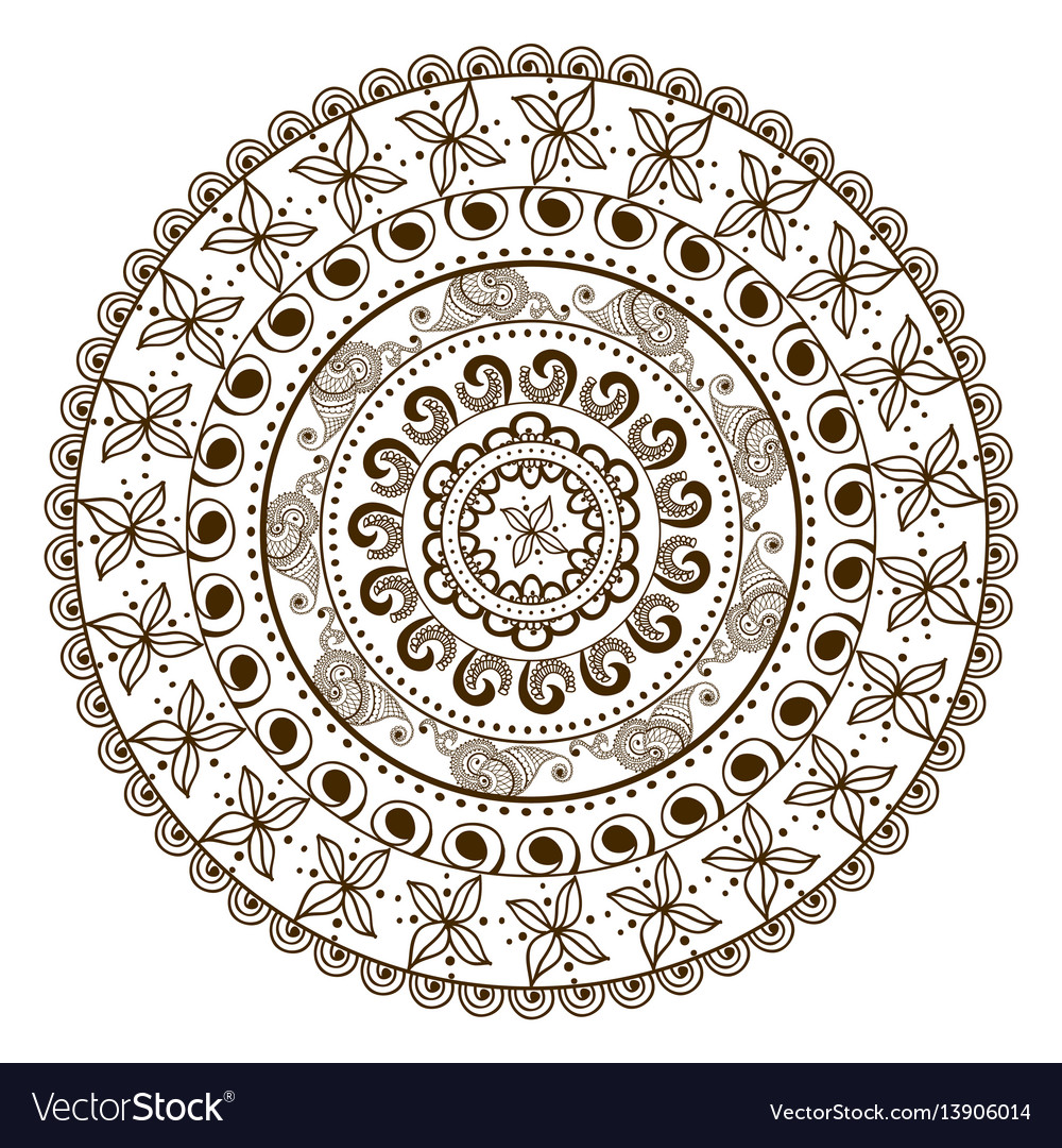 Floral mandala in indian style