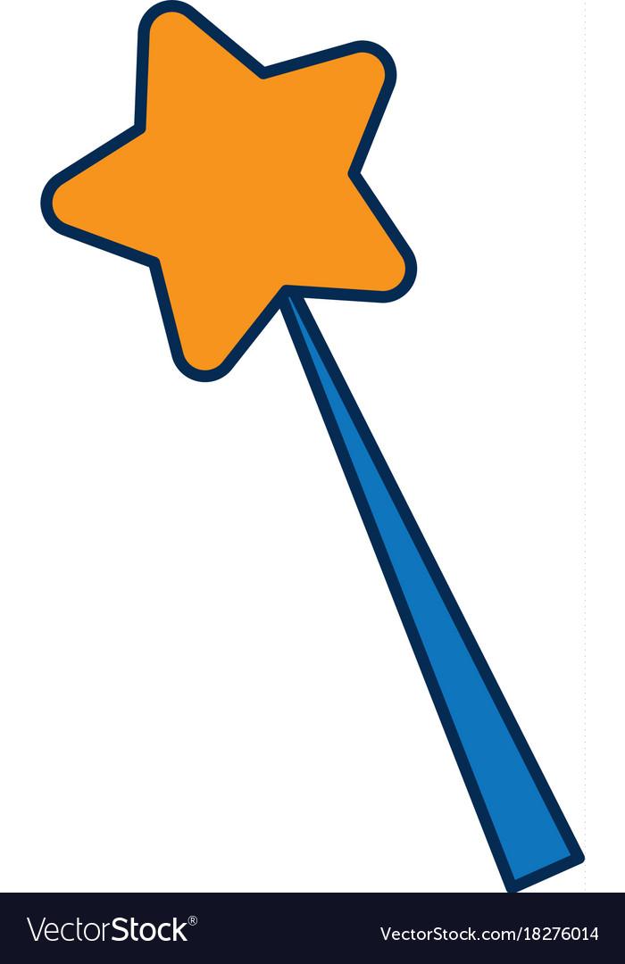 Orange and Blue Magic Wand