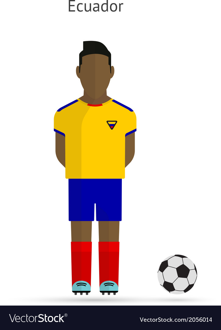 National football player Ecuador soccer team vector image