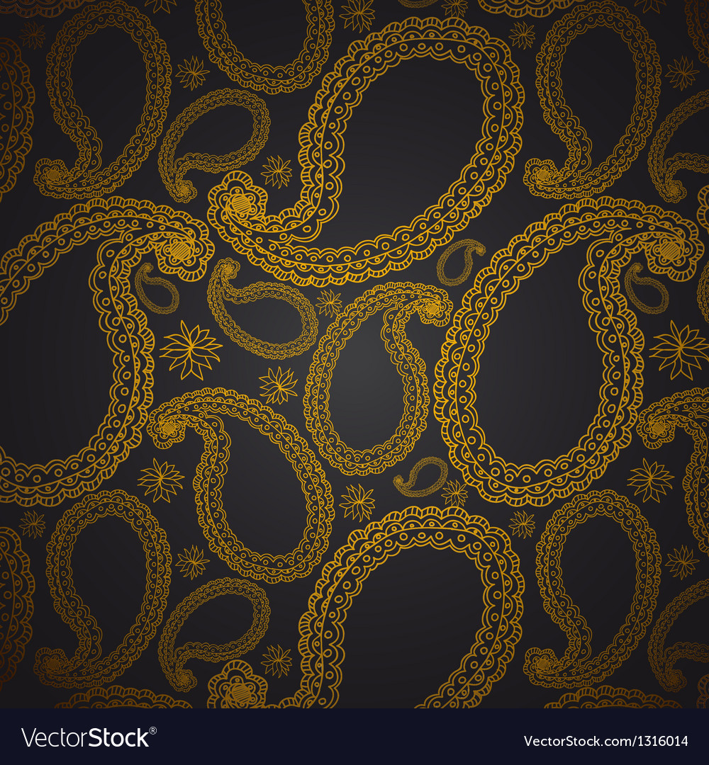 Paisley seamless background Royalty Free Vector Image
