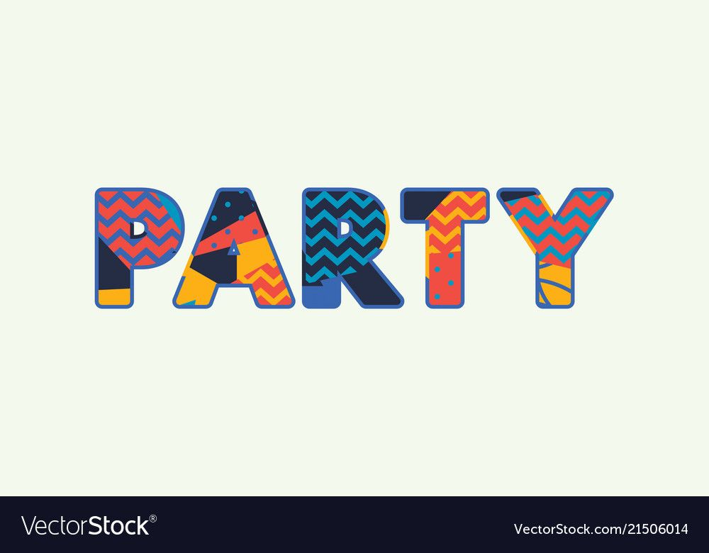 Party concept word art