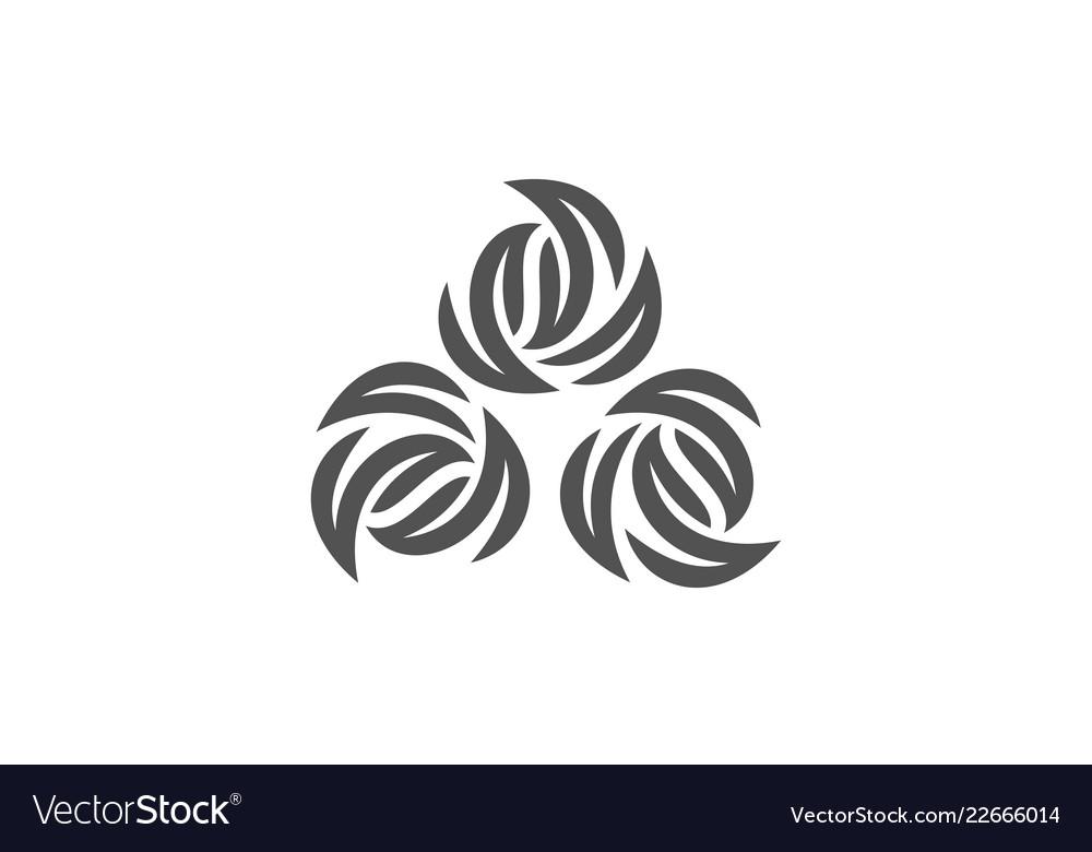 Swirl abstract art logo