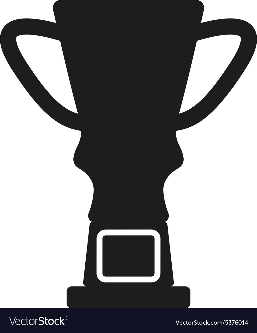 The Trophy Cup Icon Champion Symbol Flat Vector Image