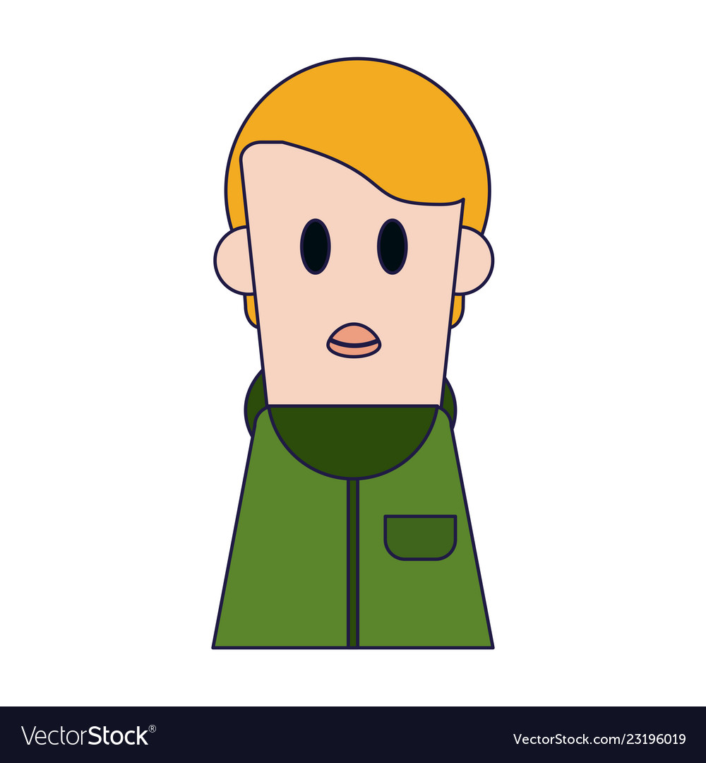 Boy cartoon profile