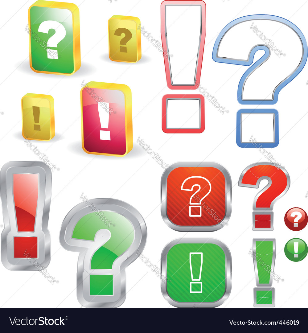 Exclamation and question vector image