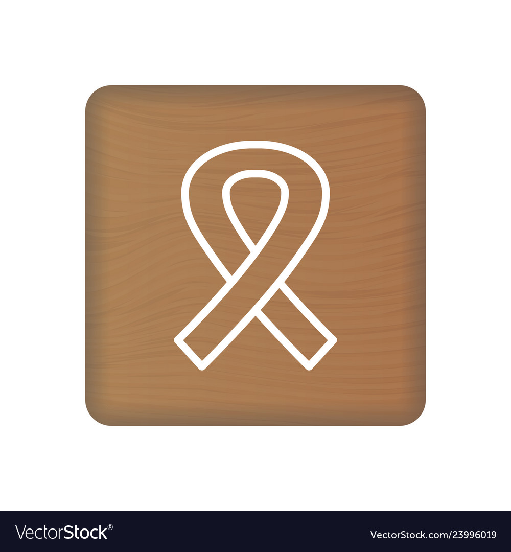 February 4 world cancer day icon on wooden block