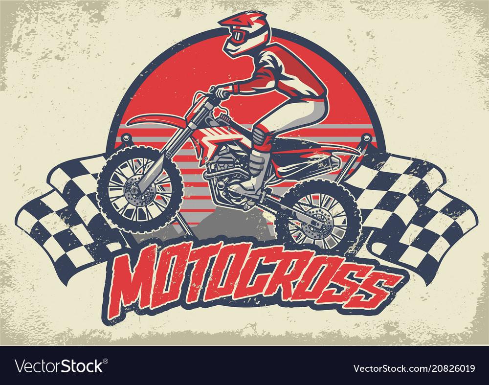 Vintage motocross design
