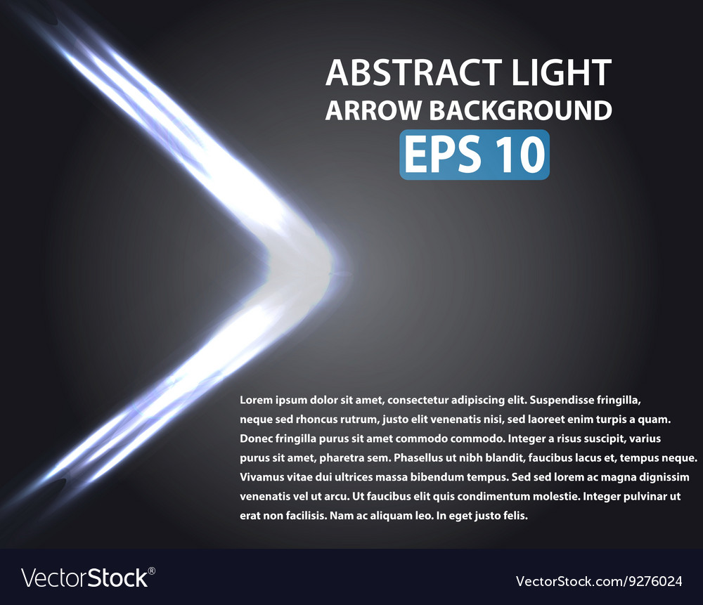 Abstract background with light arrow