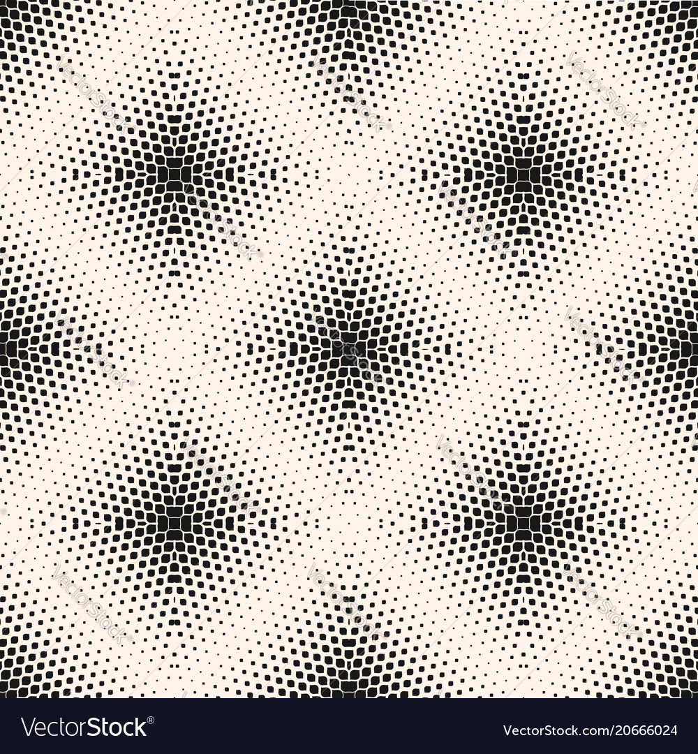 Halftone seamless pattern with small shapes