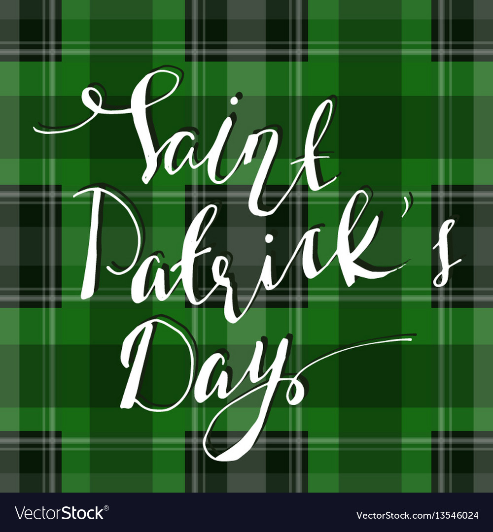Handwritten saint patricks day greetings vector image m4hsunfo